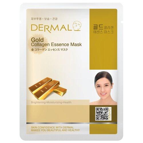 DERMAL Gold Collagen Essence Mask Тканевая маска с коллагеном и коллоидным золотом, 23 г dermal тканевая маска bamboo collagen essence mask с коллагеном и экстрактом бамбука 23 г