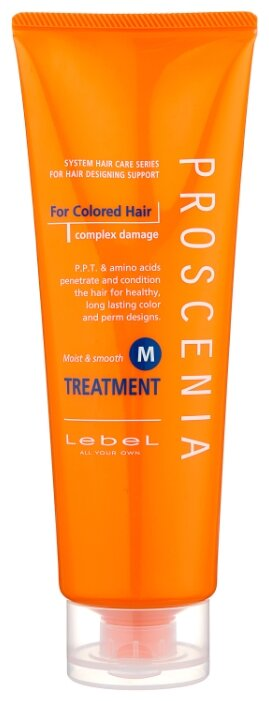 Lebel Cosmetics Сохранение цвета Маска по уходу за прямыми волосами PROSCENIA TREATMENT M