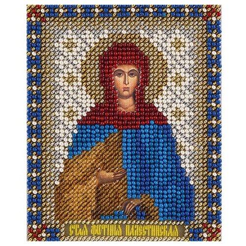Купить PANNA Набор для вышивания бисером и нитками Икона Святой Светланы Палестинской 8, 5 x 10, 5 см (CM-1464/ЦМ-1464), Наборы для вышивания