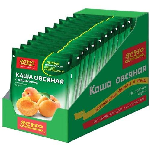 Ясно cолнышко Каша овсяная с абрикосом, порционная (15 шт.)