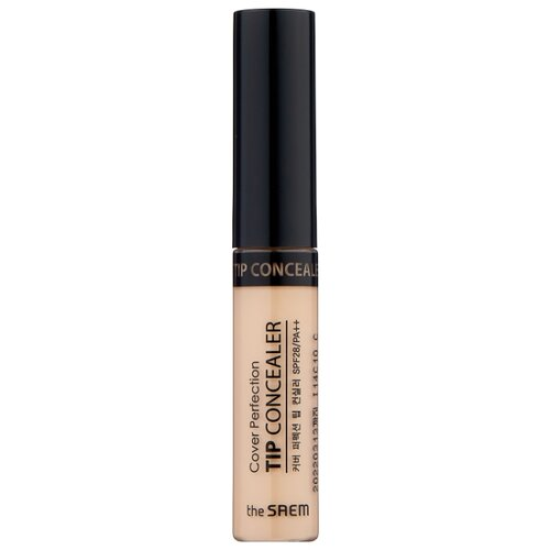 The Saem Консилер Cover Perfection Tip Concealer, оттенок 01 Clear Beige консилер the saem cover perfection pot concealer 01 цвет 01 clear beige variant hex name d2ab8a