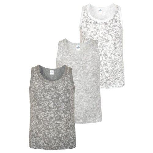 Купить Майка BAYKAR 3 шт., размер 98/104, белый/серый, Белье и пляжная мода