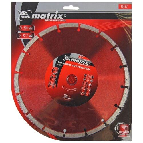 Диск алмазный отрезной 230x2.4x22.2 matrix 73177 1 шт. диск алмазный matrix 230x22 2 мм 73177