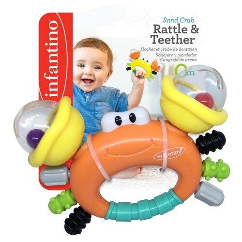 Купить Игрушка для малышей «Песчаный краб», Infantino, Игрушки для ванной