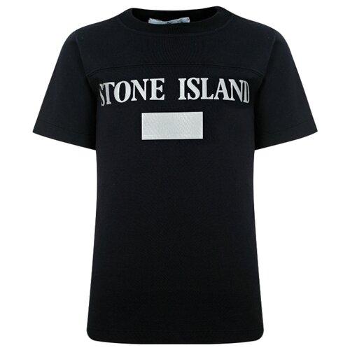 Футболка Stone Island размер 116, синий брюки stone island размер 116 серый