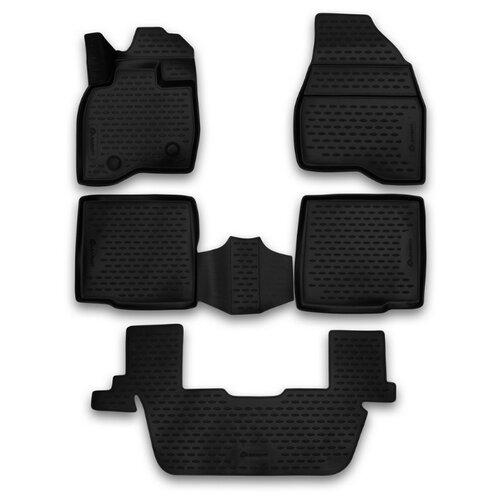 Комплект ковриков ELEMENT 3D1676210k 5 шт. черный