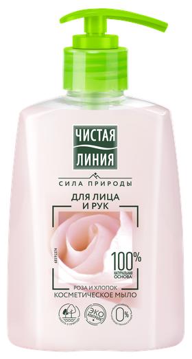 Мыло жидкое для лица и рук Роза