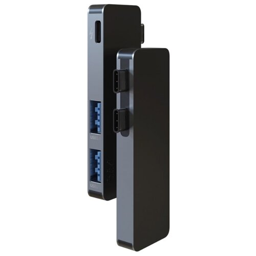 USB-концентратор vlp Type-C (MPH1), разъемов: 3, серый