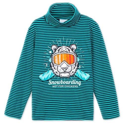 Водолазка playToday размер 110, голубой/темно-синий футболка для мальчика batik цвет темно синий голубой ds0173 10 11 размер 110