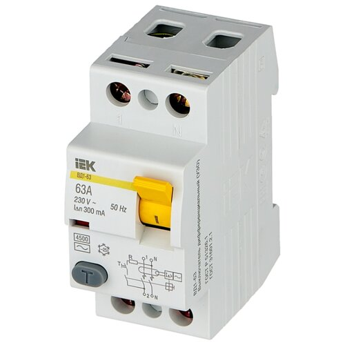 цена на УЗО IEK 300мА тип AC ВД1-63 MDV10-2-063-300 2 полюса 63 А