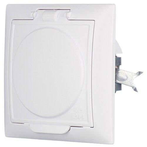 Розетка Кунцево-ЭлектроРС16-426 8117, 16 А, с защитной шторкой, с заземлением, белый