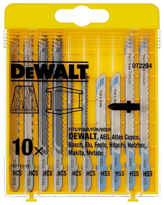 Набор пилок для лобзика DeWALT DT 2294