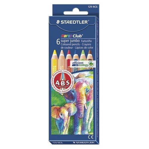 Купить Staedtler Карандаши цветные утолщенные Noris Club, 6 цветов (129 NC6), Цветные карандаши