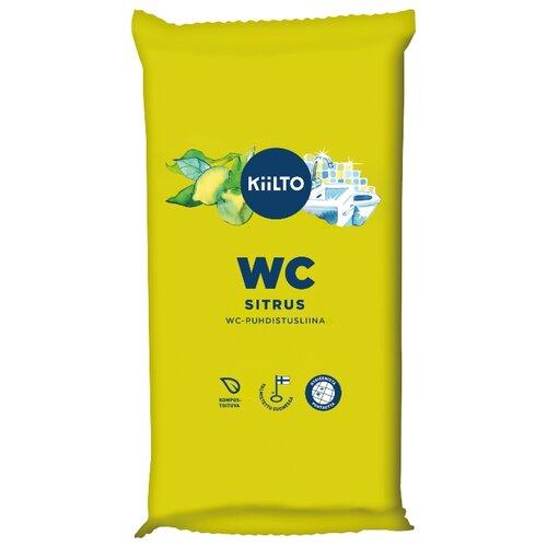 KIILTO влажные салфетки для туалета WC Цитрус 36 шт.