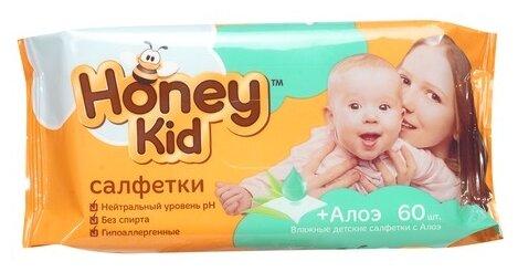 Влажные салфетки Honey Kid с алоэ