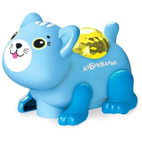 Купить Развивающая игрушка Азбукварик Диско-зверята Котик светло-голубой, Развивающие игрушки