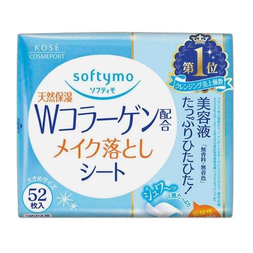 Kose Cosmeport влажные салфетки для снятия макияжа с коллагеном Softymo сменный блок