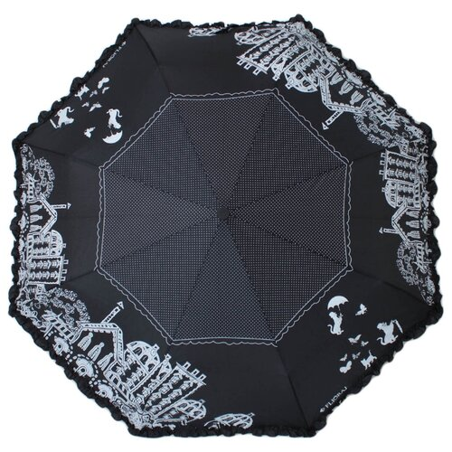 Зонт автомат FLIORAJ 250101 FJ черный/белый рюкзак женский flioraj цвет черный 00058058