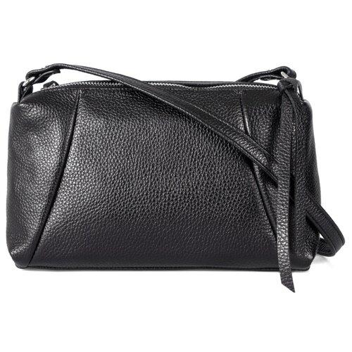 Сумка Afina, натуральная кожа, черный сумка afina afina af004bwssy21