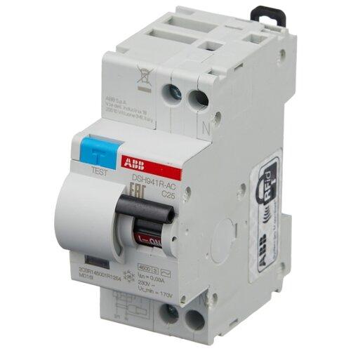 Дифференциальный автомат ABB DSH941R 2П 30 мА C 25 А автомат abb 2cds213001r0204