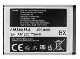 Аккумулятор Samsung AB553446BU для Samsung Metro GT-E2202/GT-C5212 Duos/SGH-i320/Champ GT-E2652 Duos/GT-C3300/SGH-M110/GT-B2100/C3212 Duos/E1110/E1130/E1130B