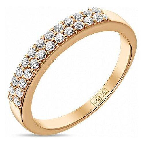 ЛУКАС Кольцо с 26 фианитами из красного золота R01-Z-59236-Z, размер 16 фото