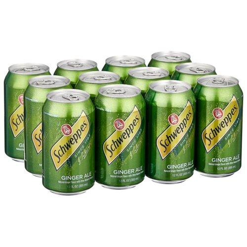 Газированный напиток Schweppes Ginger Ale, США, 0.355 л, 12 шт.
