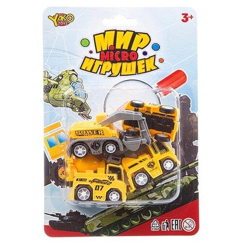 Купить Набор техники Yako Мир micro Игрушек (B93776) желтый, Машинки и техника