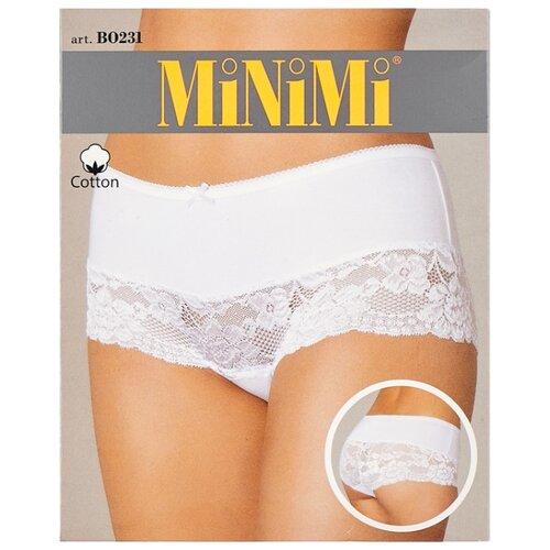 MiNiMi Трусы Трусы-шорты средней посадки с кружевом, размер 54/3XL, телесный (nudo) трусы шорты no romeo