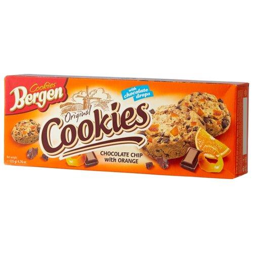 цена на Печенье Bergen Original cookies Chocolate chip with orange 135 г
