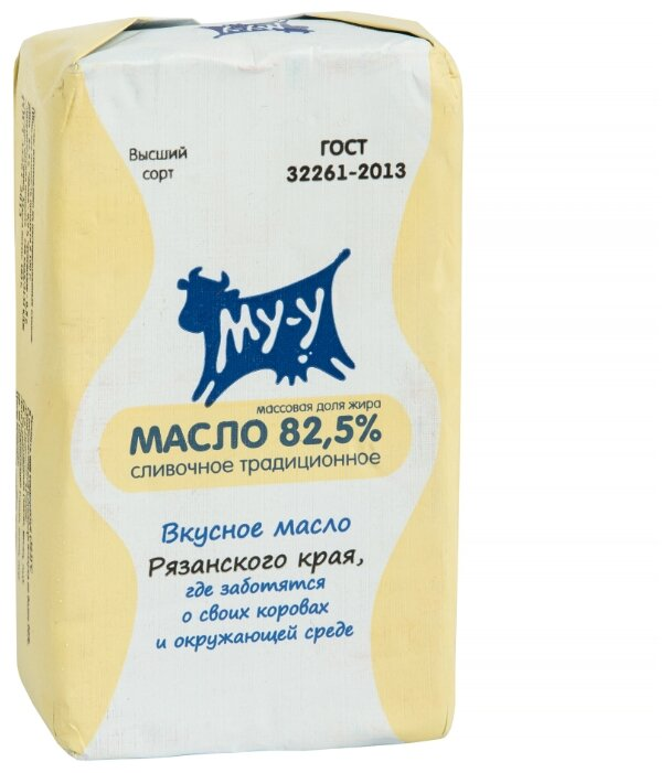 Му-у масло сливочное Традиционное 82.5%, 180 г