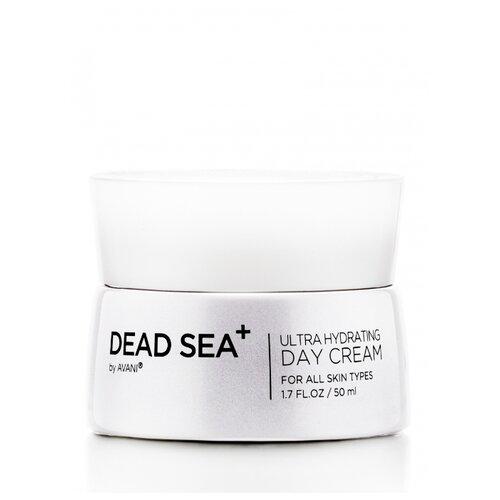 Dead Sea + Ultra Hydrating day cream Омолаживающий дневной крем для лица против морщин с коллагеном и низкомолекулярной гиалуроновой кислотой, 50 мл