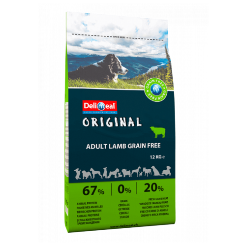 Корм для собак Delimeal (12 кг) Original Adult Lamb Grain Free