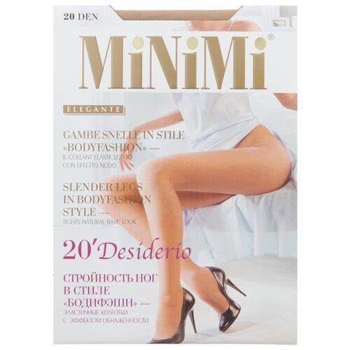 Колготки MiNiMi Desiderio (Nudo) 20 den, размер 2-S/M, caramello (бежевый) колготки minimi desiderio nudo 20 den размер 4 l daino бежевый