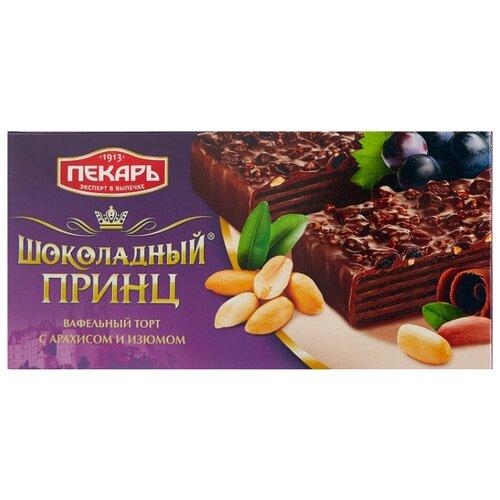 Торт Пекарь Шоколадный принц с арахисом и изюмом 260 г волжский пекарь слойка с творогом 80 г