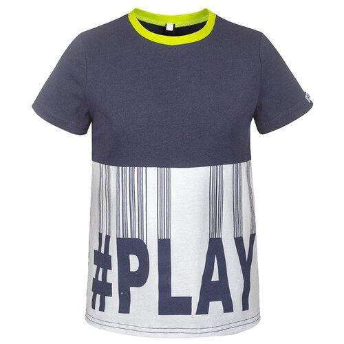 Футболка Nota Bene размер 128, темно-синий джемпер для мальчика nota bene цвет темно синий 181140305 29 размер 164