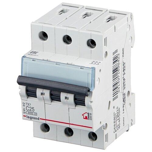 Автоматический выключатель Legrand TX3 3P (C) 6kA 25 А