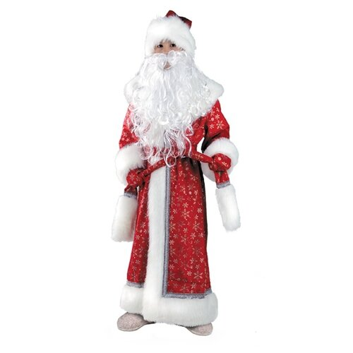 Купить Костюм Батик Дед Мороз плюш (178/178-1), красный/белый, размер 128, Карнавальные костюмы