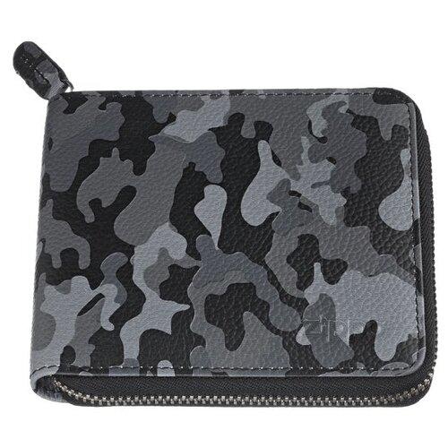 Фото - Кошелек Zippo, серо-чёрный, камуфляж, натуральная кожа, 12x2x10,5 см портмоне zippo серо чёрный камуфляж натуральная кожа 11 2x2x8 2 см
