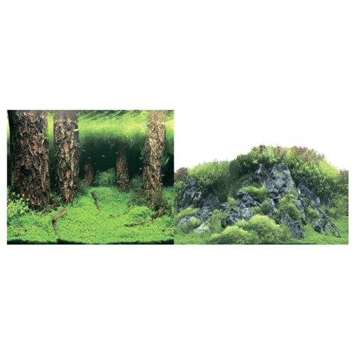 Пленочный фон Prime Затопленный лес/Камни с растениями двухсторонний 50х100 см