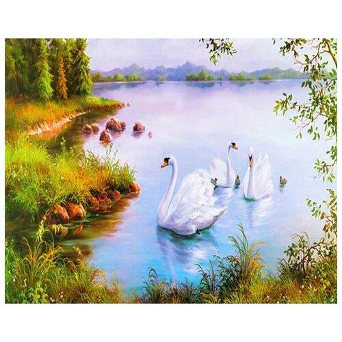 Купить Картина по номерам ВанГогВоМне ZX 21668 Белые лебеди 40х50 см, Картины по номерам и контурам