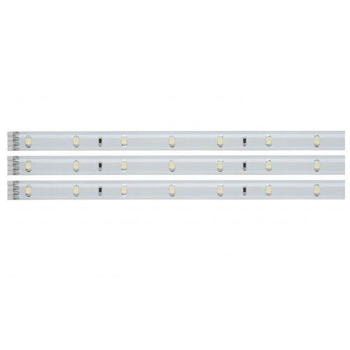 Светодиодная лента Paulmann LED Stripe Set 3x97см Warmweiß 3x3.12W 12V DC Weiß Kunststoff 2.91 м