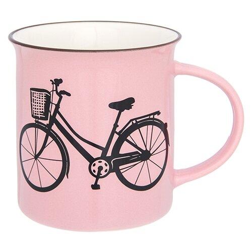 Фото - Elan gallery Кружка Велосипед 320 мл розовый кружка elan gallery home 340 мл
