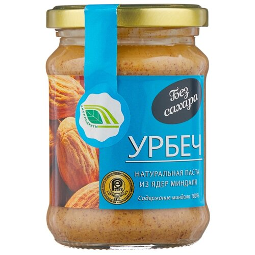 Биопродукты Урбеч натуральная паста из миндаля, 280 г биопродукты купить