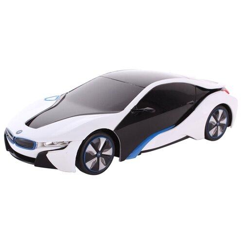Купить Легковой автомобиль Rastar BMW I8 (48400) 1:24 19 см белый/черный, Радиоуправляемые игрушки