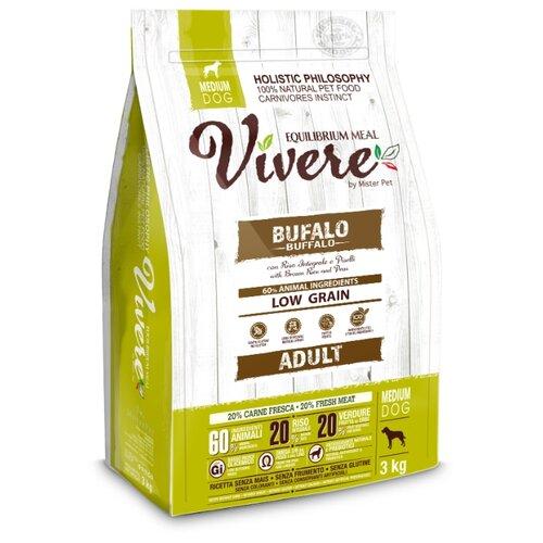 Сухой корм для собак Vivere буйвол 3 кг (для средних пород)