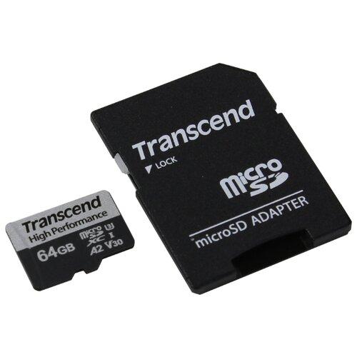 Фото - Карта памяти Transcend 64GB UHS-I U3 A2 microSD microSD w/ adapter карта памяти sdhc 32gb transcend class10 uhs i