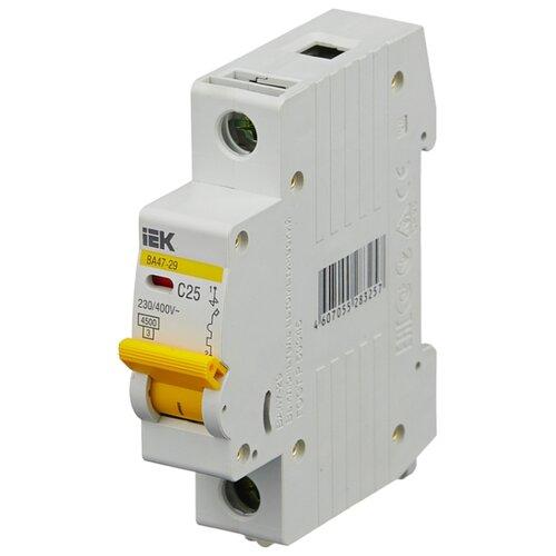 Автоматический выключатель IEK ВА 47-29 1P (C) 4,5kA 25 А автомат iek 3п c 40а ва 47 100