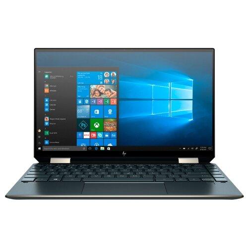 Купить Ноутбук HP Spectre x360 13-aw0004ur (Intel Core i5 1035G4 1100 MHz/13.3 /1920x1080/8GB/512GB SSD/DVD нет/Intel Iris Plus Graphics/Wi-Fi/Bluetooth/Windows 10 Home) 8KN53EA синий Посейдон