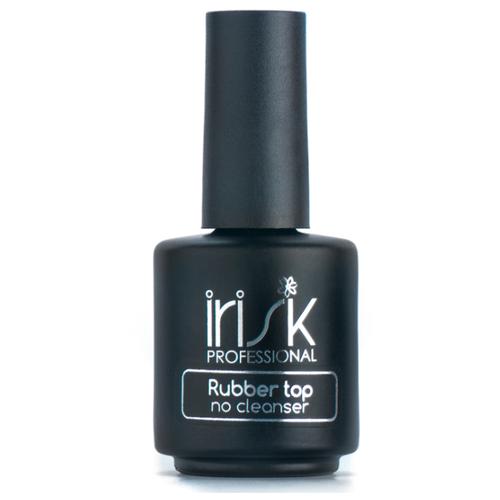 Irisk Professional верхнее покрытие Rubber Top No Cleanser 18 мл прозрачный irisk professional верхнее покрытие rubber top no cleanser 18 мл прозрачный